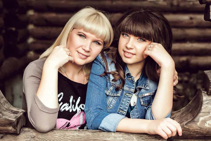 О.Н. Богова с дочерью Настей