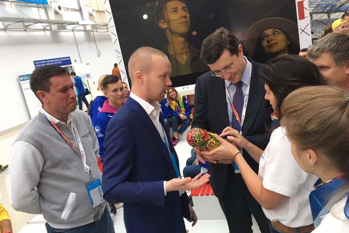 Встреча главы Нижегородской области Глеба Никитина с нижегородской делегацией