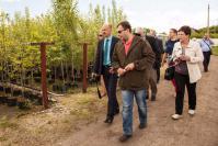 Участники пресс-тура в питомнике «Зеленый город»м